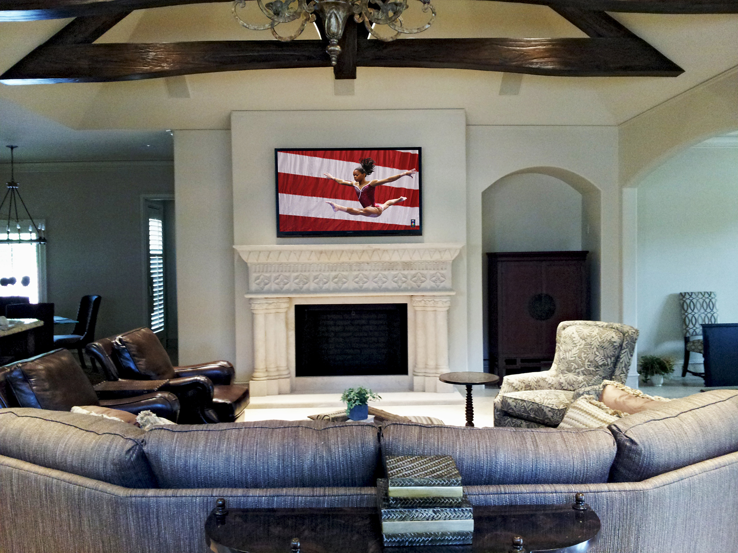 Amazing Living Rooms with Wall Mounted TV 1500 x 1125 · 1256 kB · jpeg